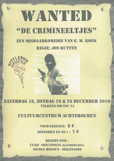 2010 DE CRIMINEELTJES